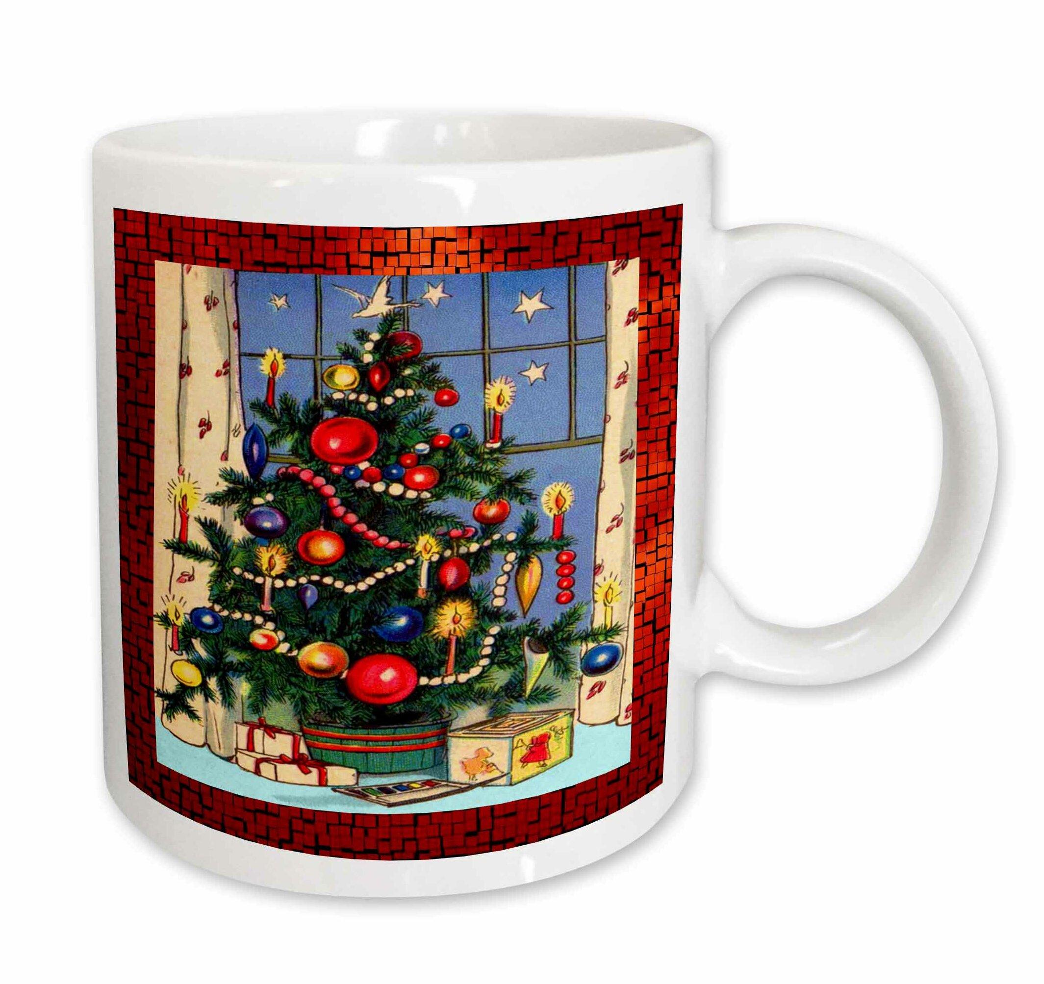 East Urban Home Old Fashion Christmas Tree Coffee Mug Wayfair