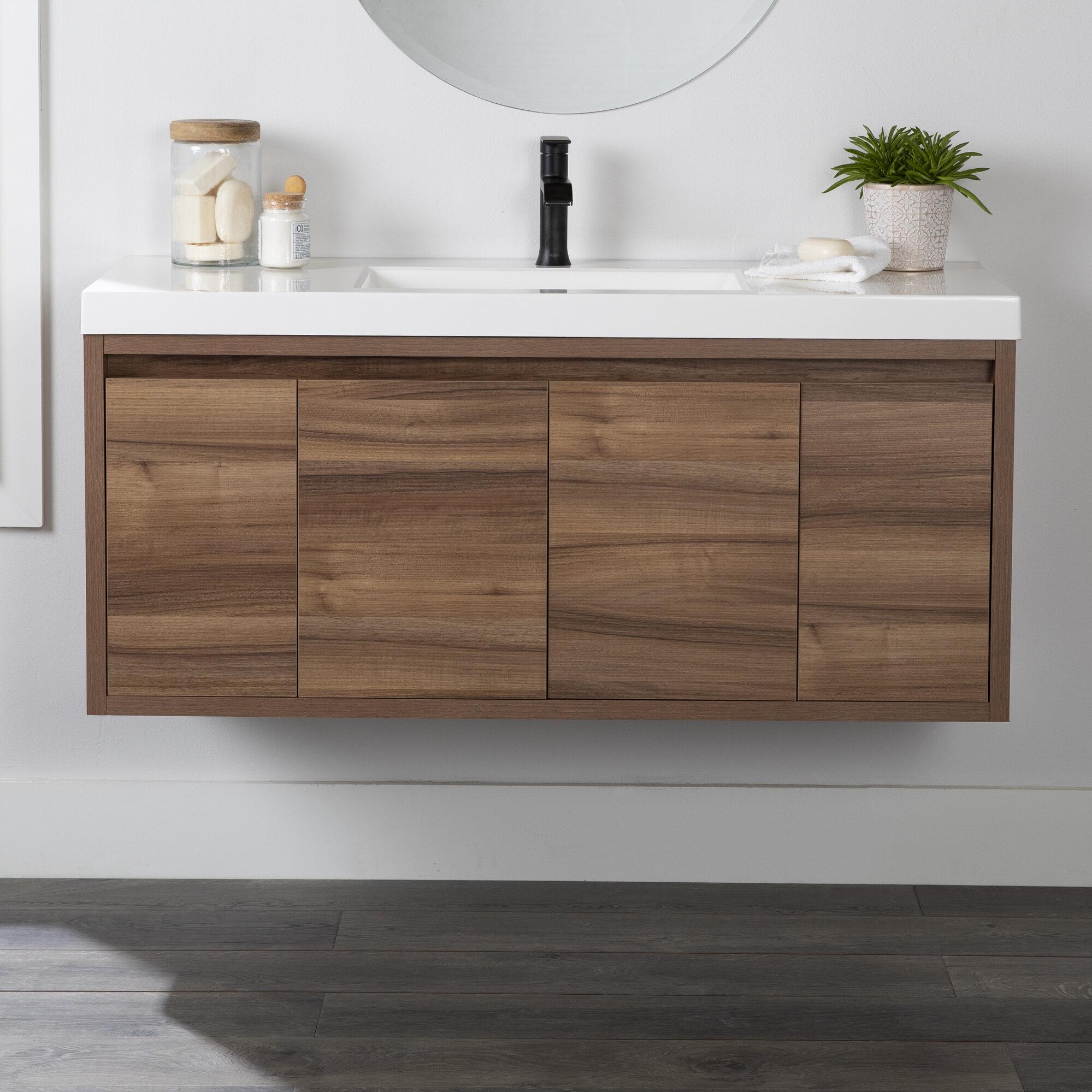 Union Rustic Rachal 49 Wall Mounted Single Bathroom Vanity Set Reviews Wayfair