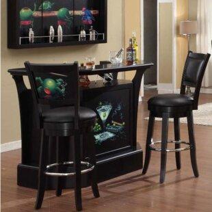 Goddard Series Bar with Wine Storage by ECI Furniture