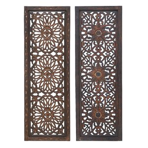 2 Piece Panel Wood Wall Du00e9cor Set (Set of 2)