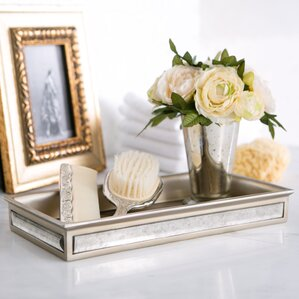 distressed glass bathroom accessory tray - Bathroom Accessories Vanity Tray