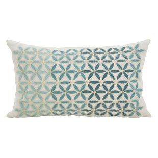 Agata Mosaic Stitched Down Filled Lumbar Pillow