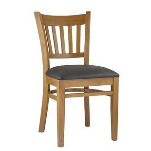 Slatback Solid Beech Wood Chair (Set of 2..