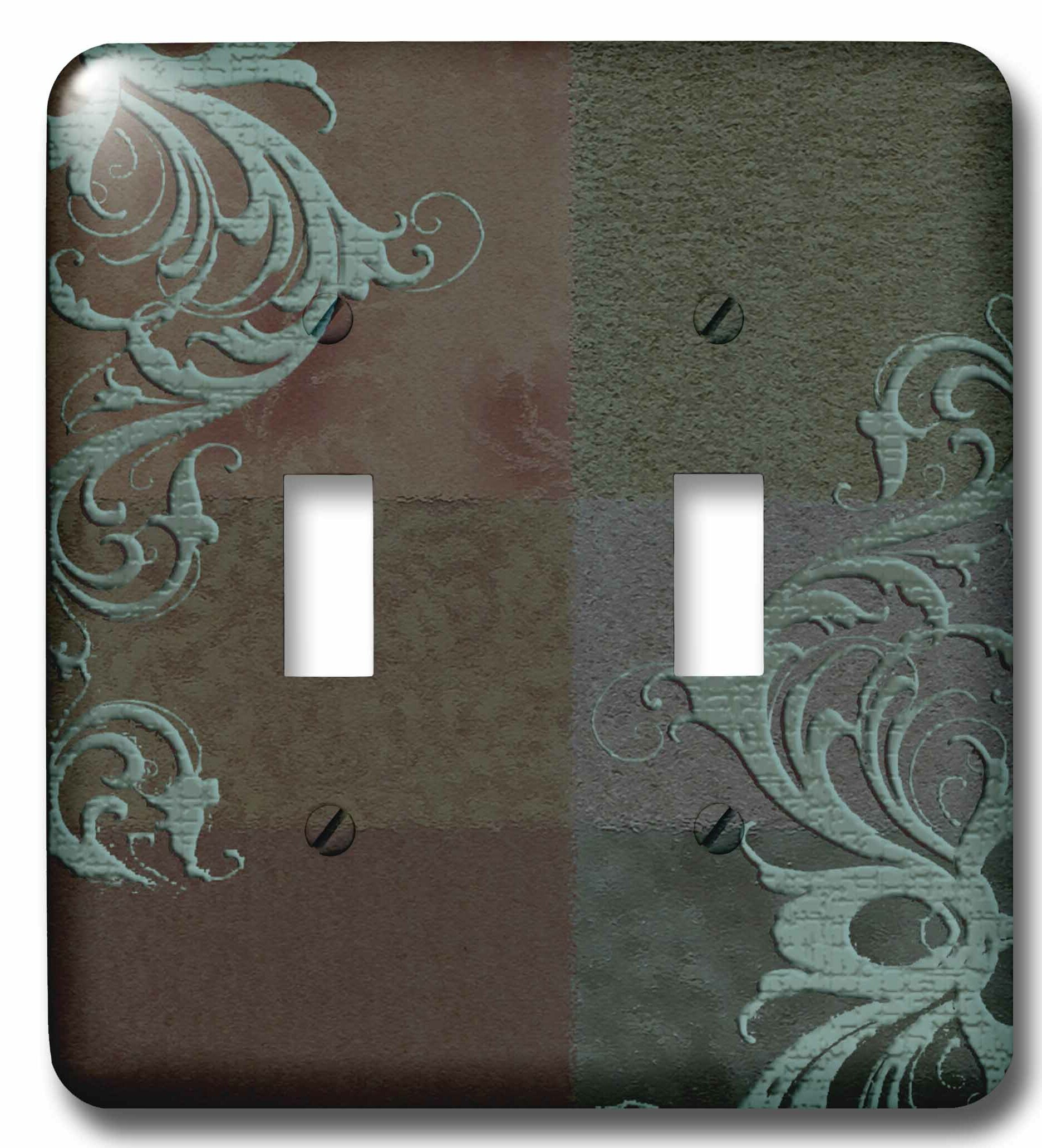 3drose Elegant Vines On Tones 2 Gang Toggle Light Switch Wall Plate Wayfair
