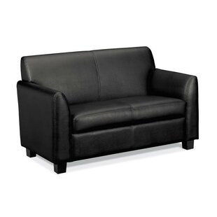 HON 800 Series Leather Loveseat