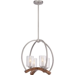 Foundry Select Ambudkar 4-Light Geometric Chandelier