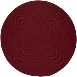 Smyth Hand-Braided Colonial Red Indoor/Outdoor Area Rug