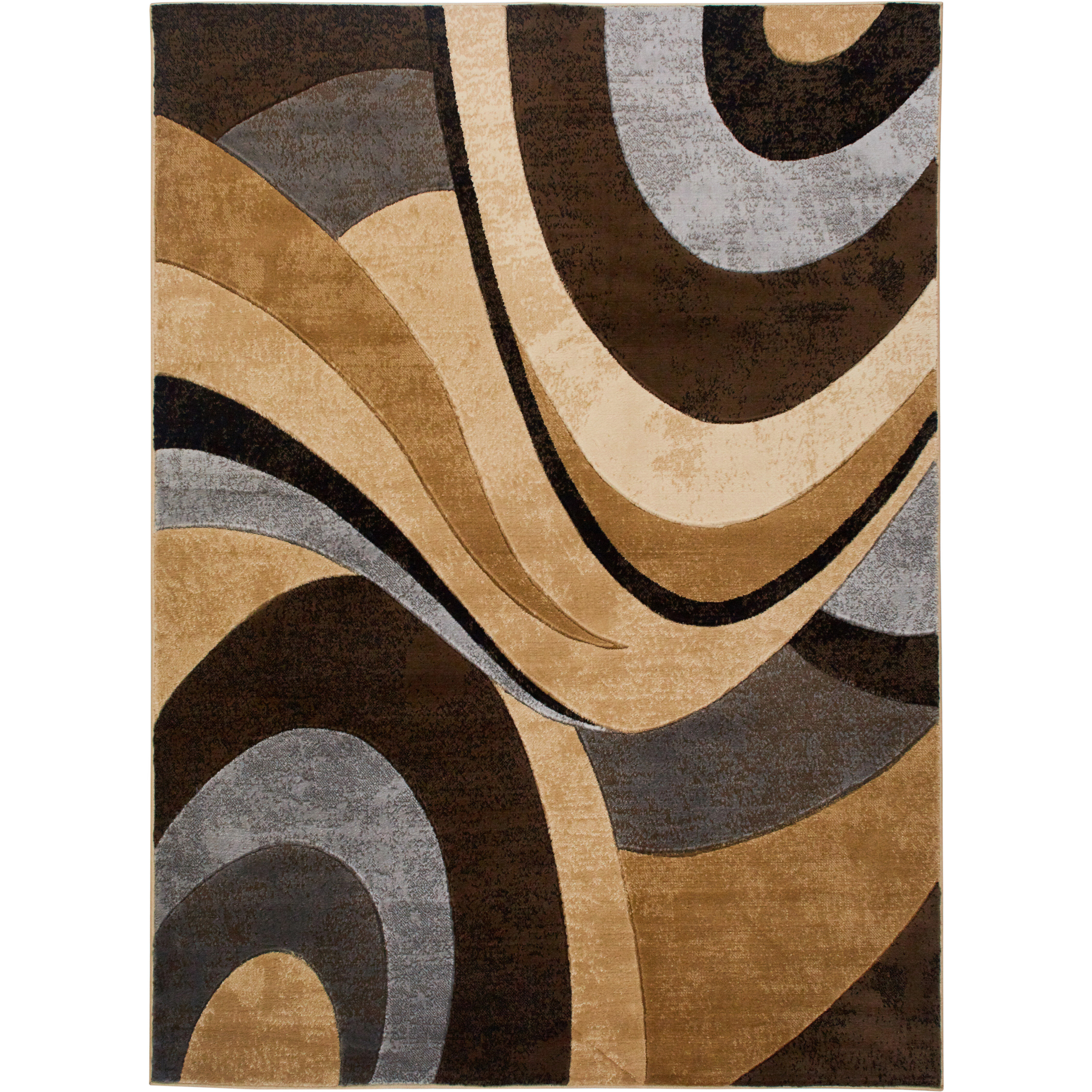 Christien Abstract Brown Gray Area Rug