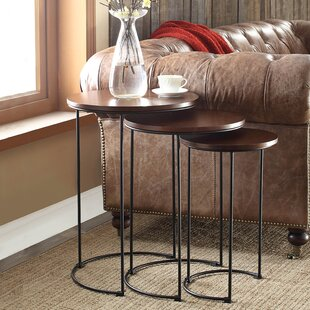 Nesting tables youll love wayfair audrey 3 piece nesting tables watchthetrailerfo