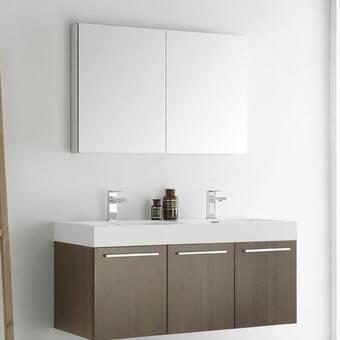 Fabulous Bosley 48 Double Sink Modern Bathroom Vanity Set Reviews Interior Design Ideas Gentotryabchikinfo