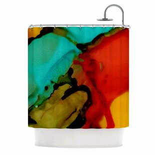 'Caldera #1' Single Shower Curtain
