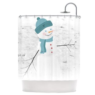 Frosty Shower Curtain ByEast Urban Home