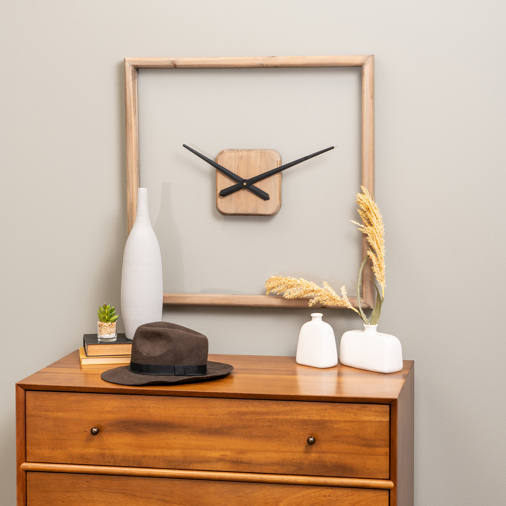 George Oliver Oversized Dempster Wall Clock Wayfair