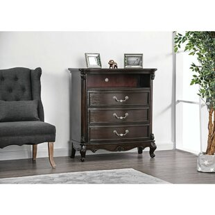 Astoria Grand Pinkie Solid Wood 3 Drawer Media Chest