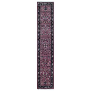 One-of-a-Kind Balcones Hand-Knotted 2' x 10'1 Wool Pink Area Rug