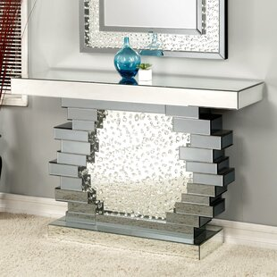 Online Reviews Longo Mirrored Console Table By Rosdorf Park