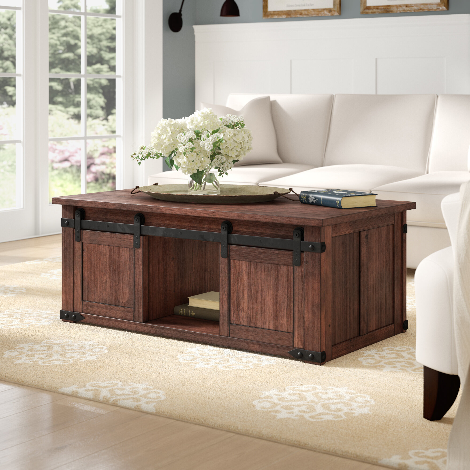 Laurel Foundry Modern Farmhouse Rosa Solid Wood Coffee Table With Storage Reviews Wayfair