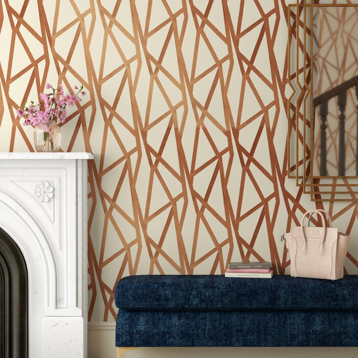 Georgina Intersections 33 L X 20 W Abstract Peel And Stick Wallpaper Roll