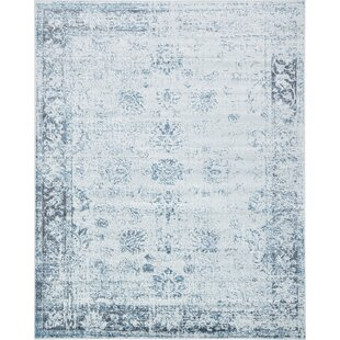 Read Reviews Brandt Light Blue/Ivory Area Rug By Mistana