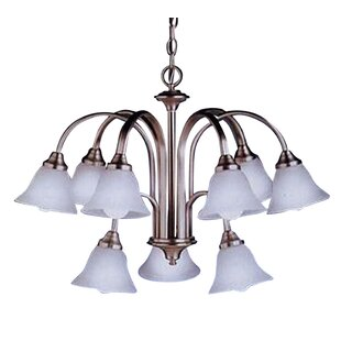 Calabro 9-Light Shaded Chandelier by Charlton Home