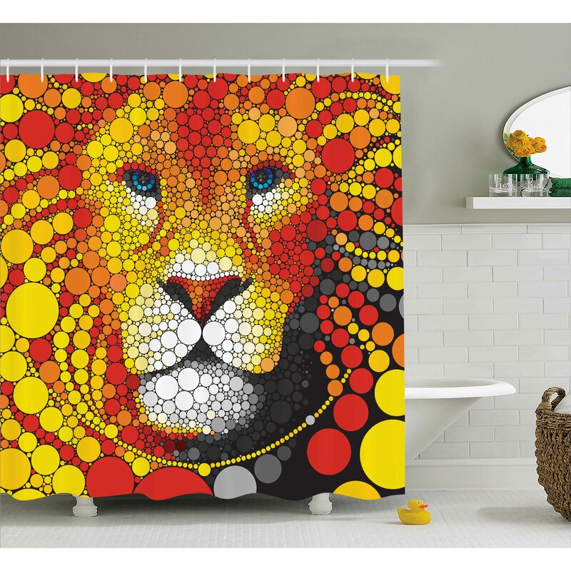 Beckner Abstract Lion Shower Curtain