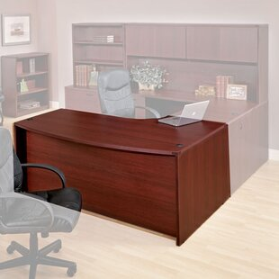 Red Barrel Studio Blairview Left Corner Bow Front Executive Desk