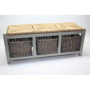 On Sale Gracelyn Wicker Storage Bench