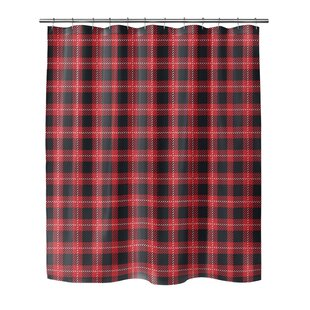 Christmas In Plaid Single Shower Curtain by KAVKA DESIGNS