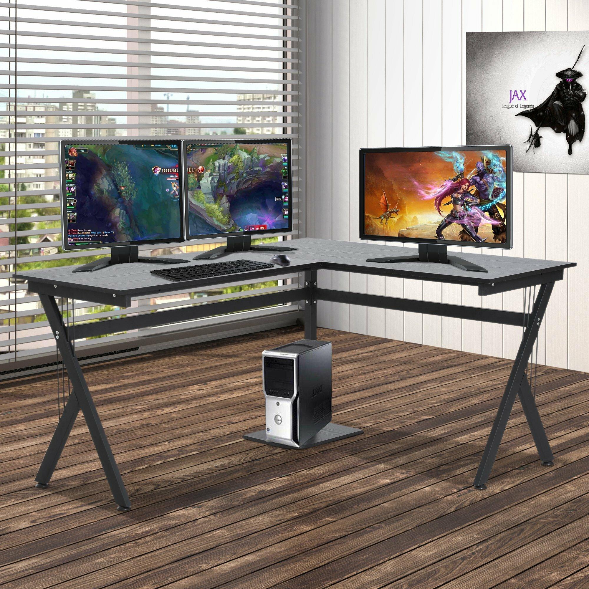 Ebern Designs Highcliffe Manufactured Wood L Shape Computer Desk Reviews