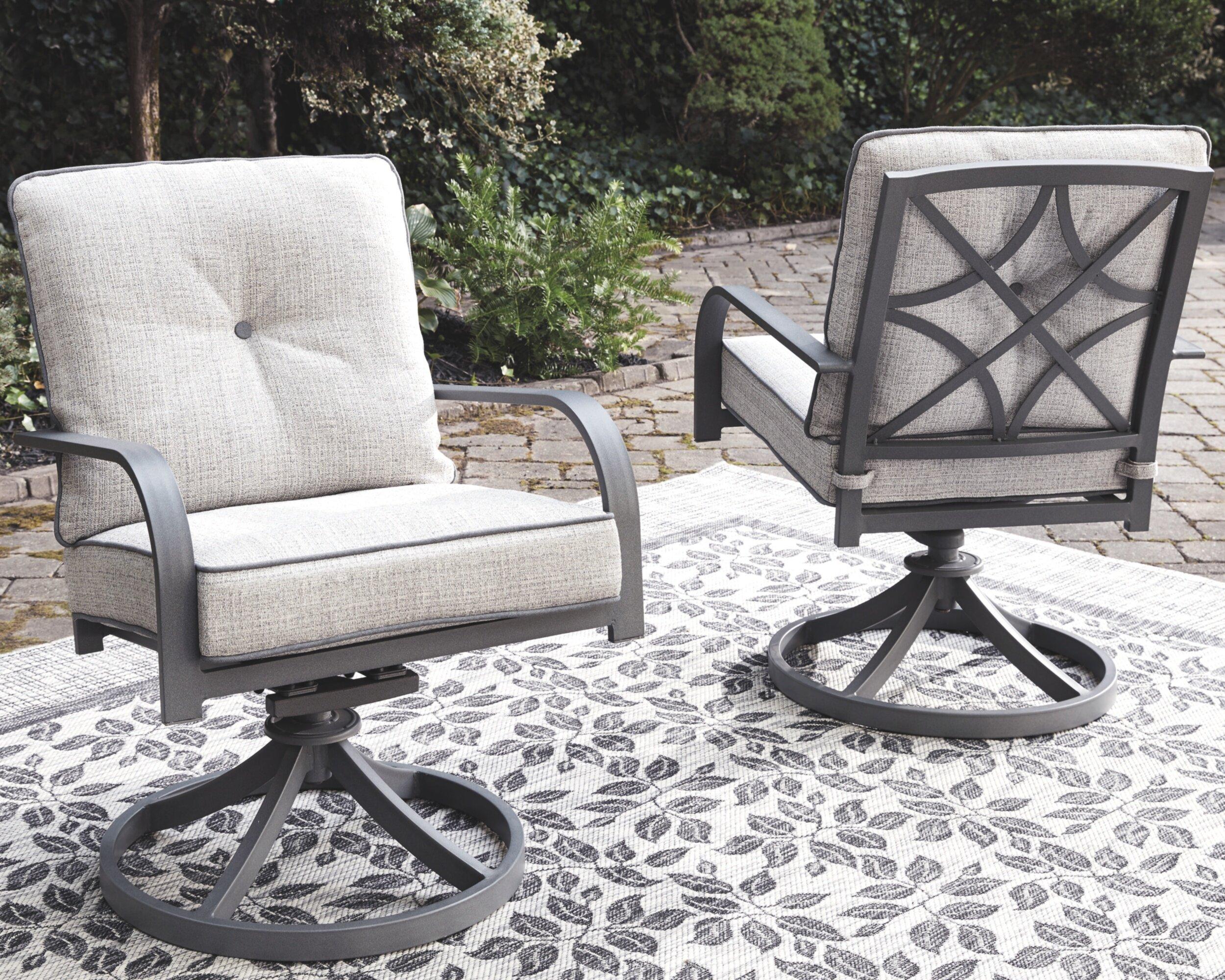 anguiano swivel patio chair with cushions