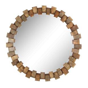 Union Rustic Ornellas Eclectic Brick Round Accent Mirror