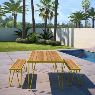 Paulette 2 Seater Twin Bench Dining Set By Altra Furniture