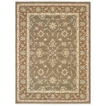 Ophelia Co Nantwich Hand Tufted Wool Silk Green Area Rug Wayfair