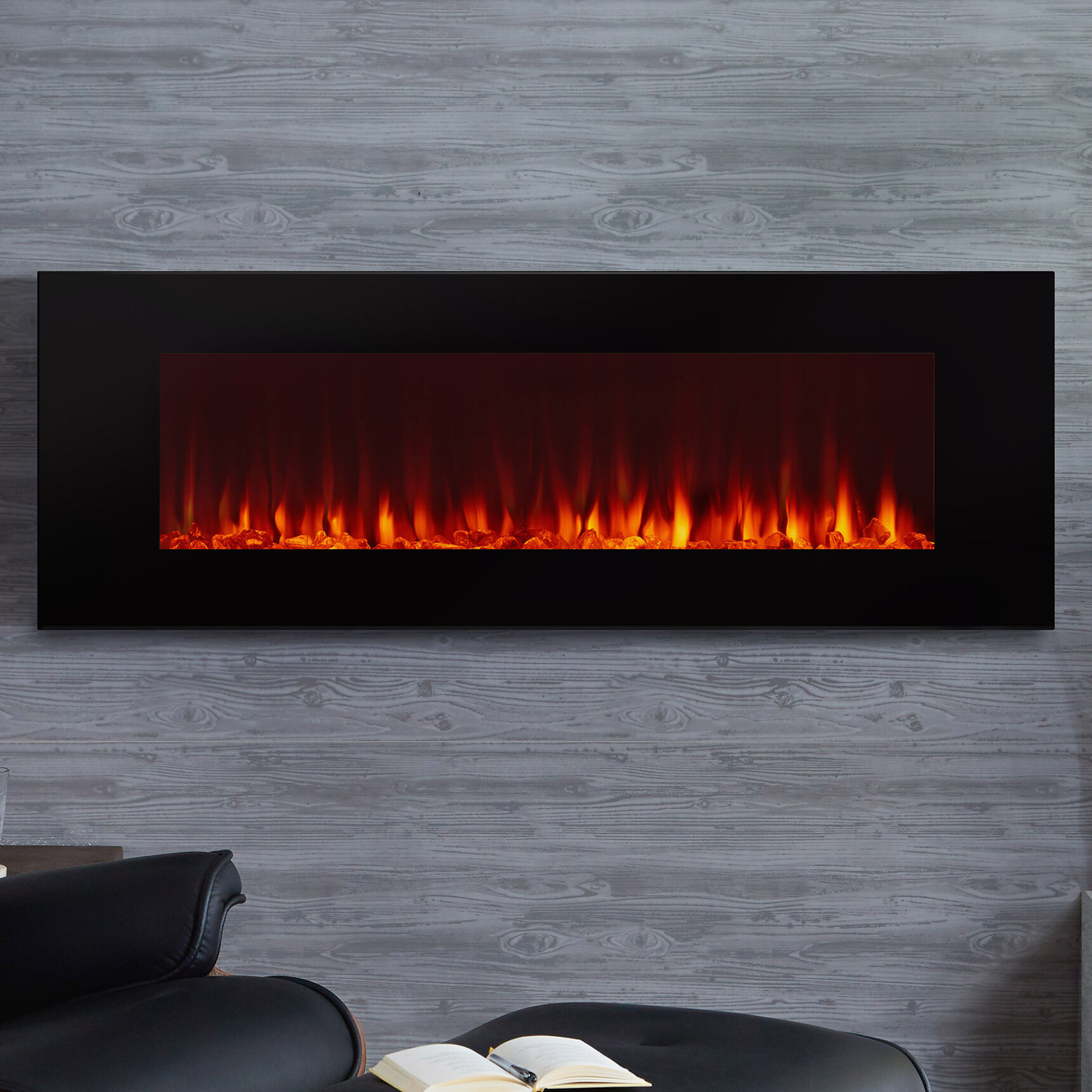 wall burnished mounted cohesion mount fireplace product electric walnut dimplex surround