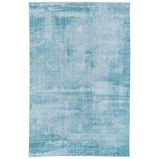 Richter Watercolor Blue Indoor/Outdoor Area Rug