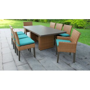 Medina 9 Piece Dining Set with Cushions