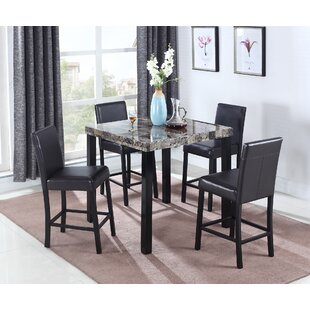 Aguadilla 5 Piece Counter Height Dining Set