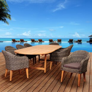 Elsmere 9 Piece Teak Dining Set with Cushions