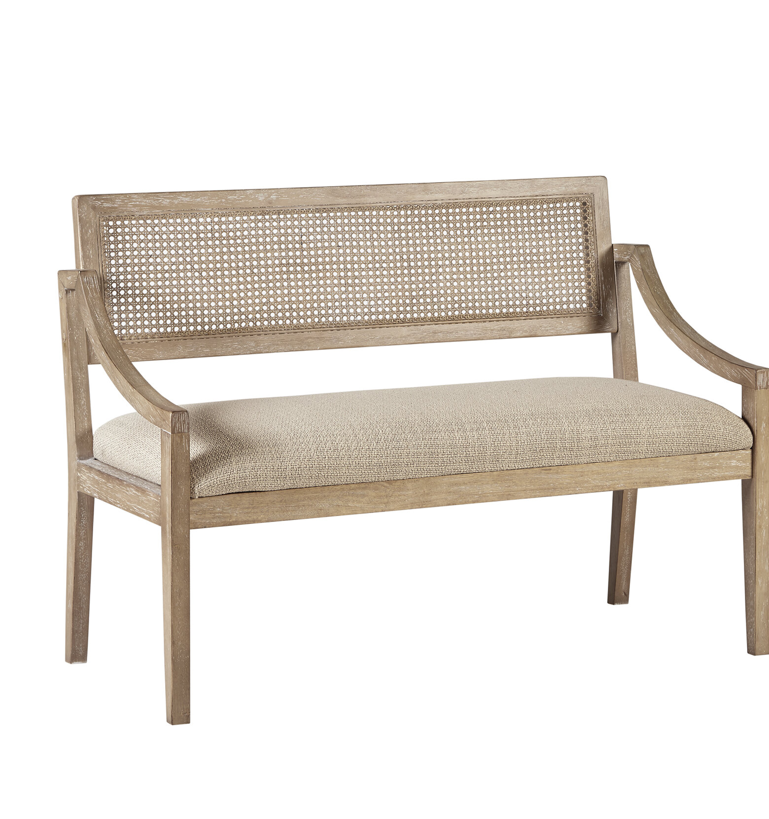 Wondrous Deleon Cane Arm Wood Bench Gmtry Best Dining Table And Chair Ideas Images Gmtryco