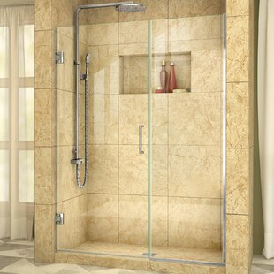 Unidoor Plus 56.5 x 72 Hinged Frameless Shower Door with Clearmax? Technology by DreamLine
