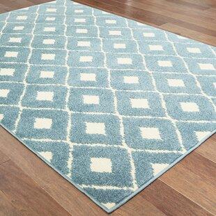 Fluellen Diamond Lattice Blue Indoor/Outdoor Area Rug