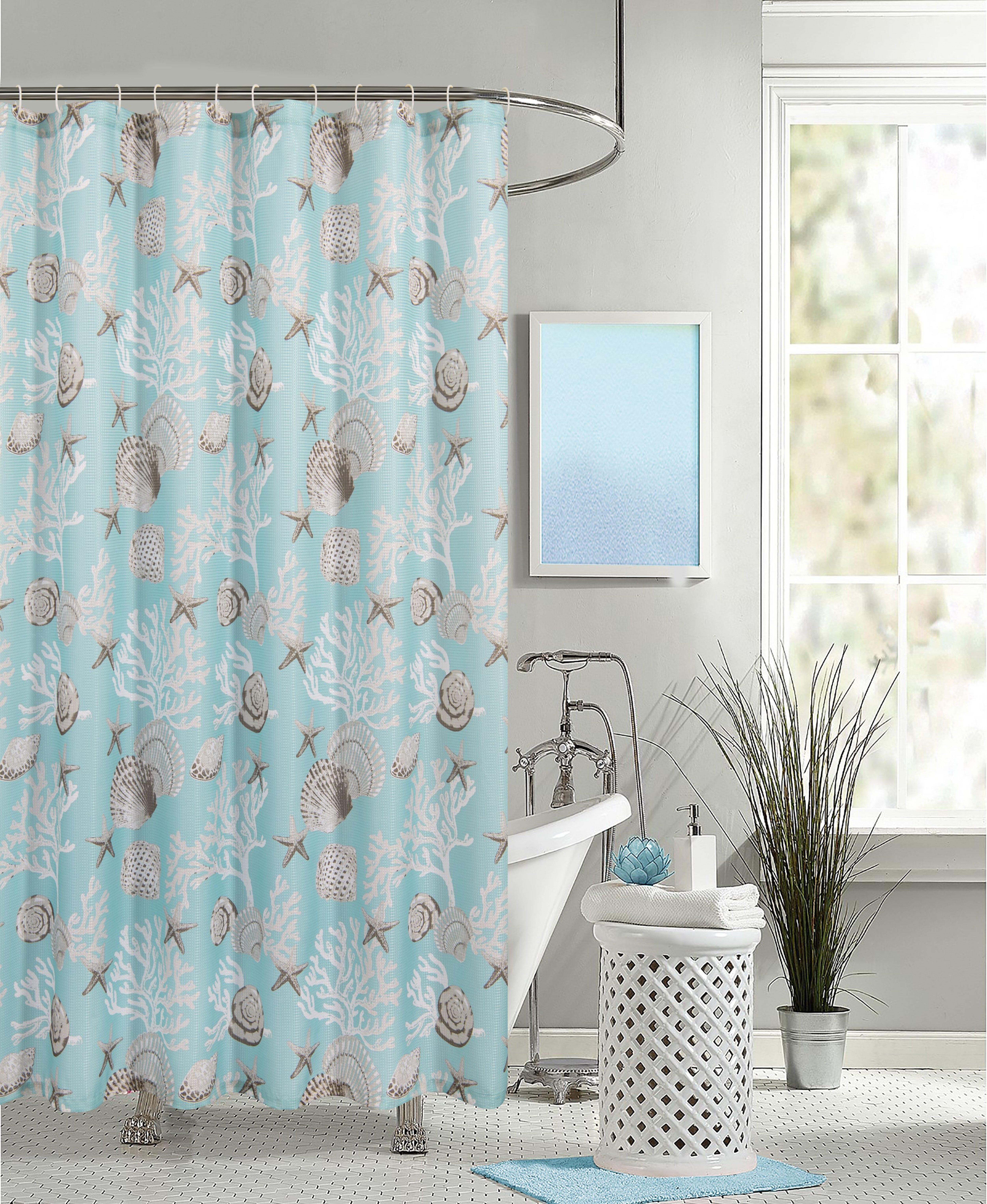 Rosecliff Heights Wautoma 13 Piece Shower Curtain Set Hooks Wayfair