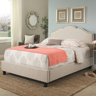 Mélanie Upholstered Wood Frame Panel Bed