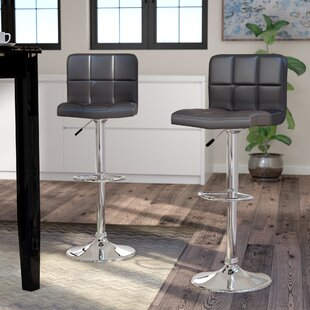Andres Adjustable Height Swivel Bar Stool (Set of 2) by Latitude Run