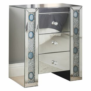 Reviews Escolta 3 Drawer Nightstand by Rosdorf Park