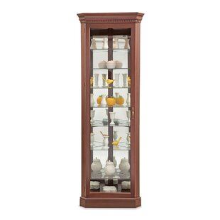 Philip Reinisch Co. Lighthouse Octave III Lighted Corner Curio Cabinet