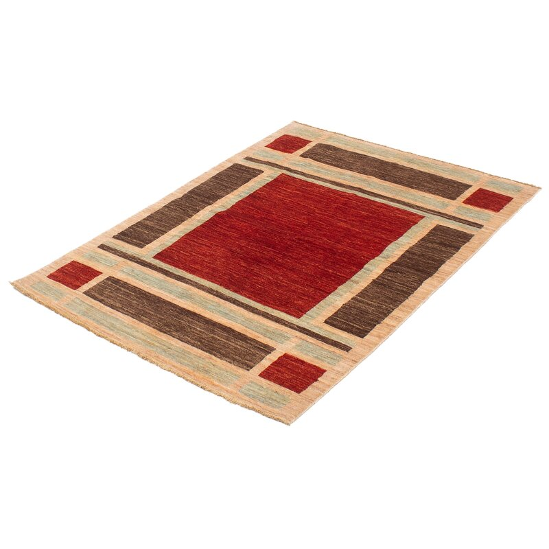 Darby Home Co One Of A Kind Camara Hand Knotted 2010s Ushak Dark Copper 4 7 X 6 7 Wool Area Rug Wayfair