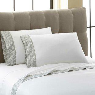 Cramer Octagonal Printed Cuff 300 Thread Count 100% Cotton 4 Piece Sheet Set