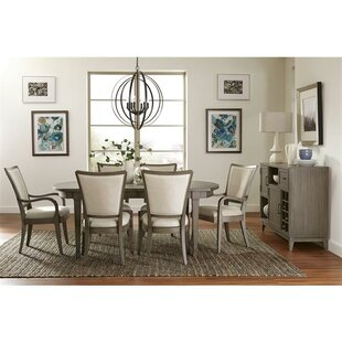 Malt 7 Piece Extendable Solid Wood Dining Set