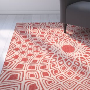 Mullen Red/Beige Indoor/Outdoor Area Rug